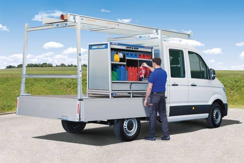 CombiRack mit ToolBox TB-150 XL auf Pritschenfahrzeug