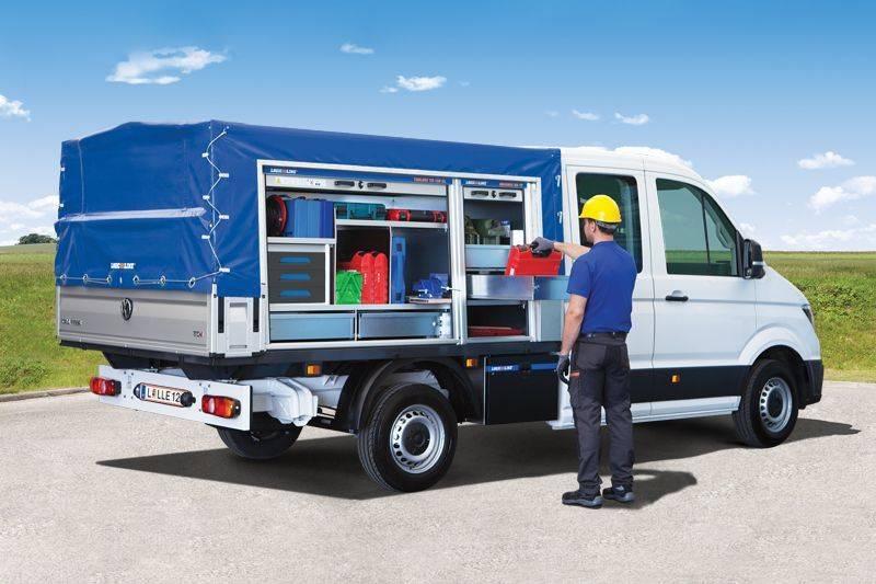 BasicCover blau mit offener ToolBox und RoadBox