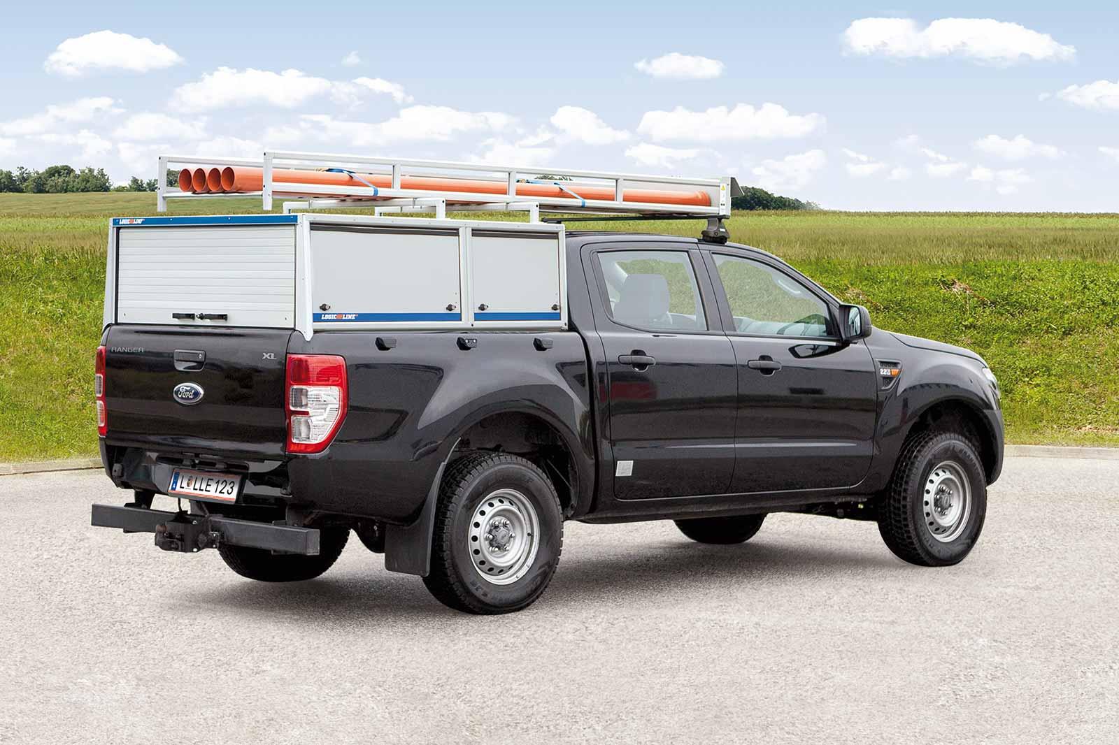 Ford Ranger mit PickUp System und PickUp Rack